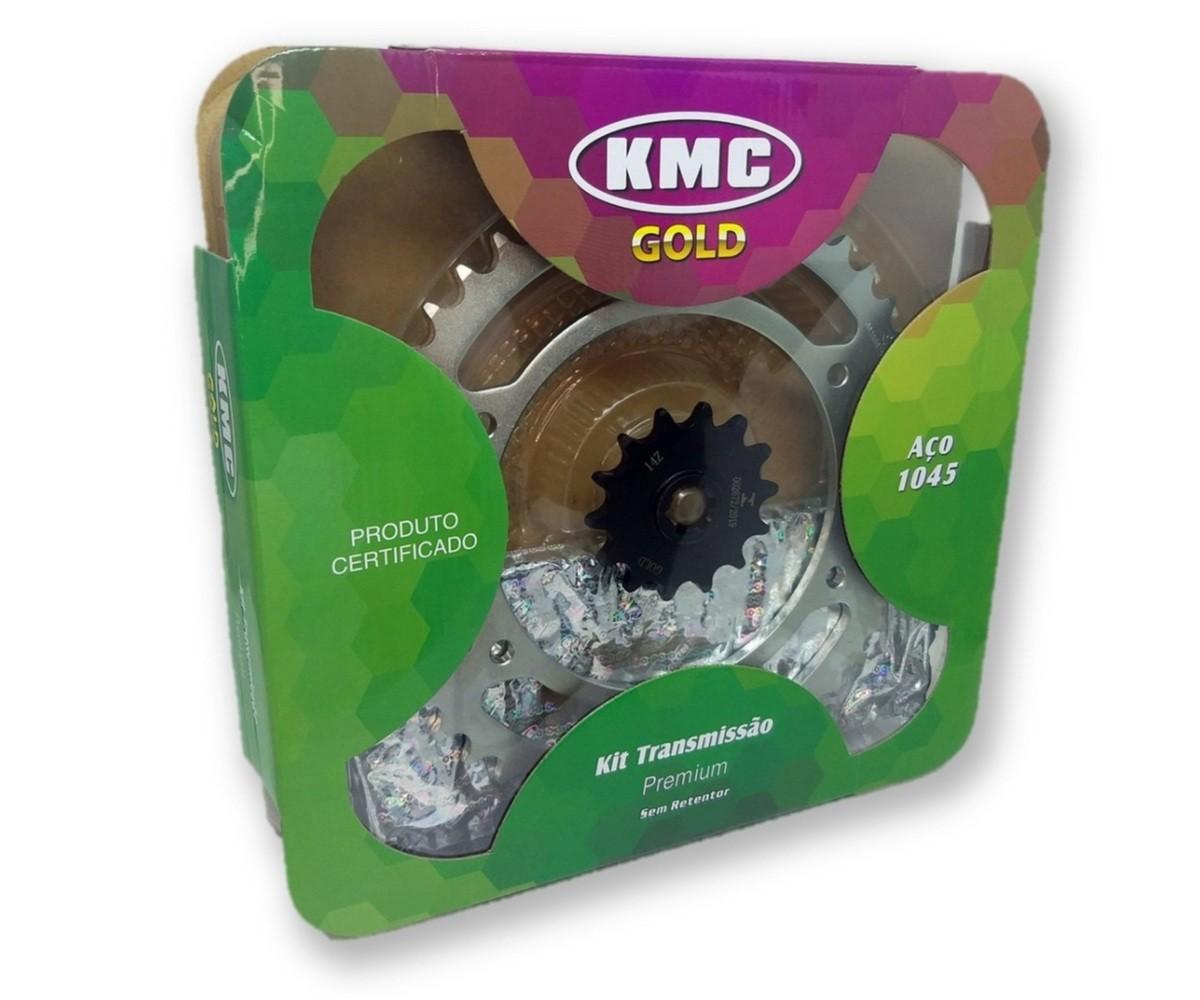 Kit Relação Comet GT 250 Aço 1045 KMC GOLD 520x128x46x14