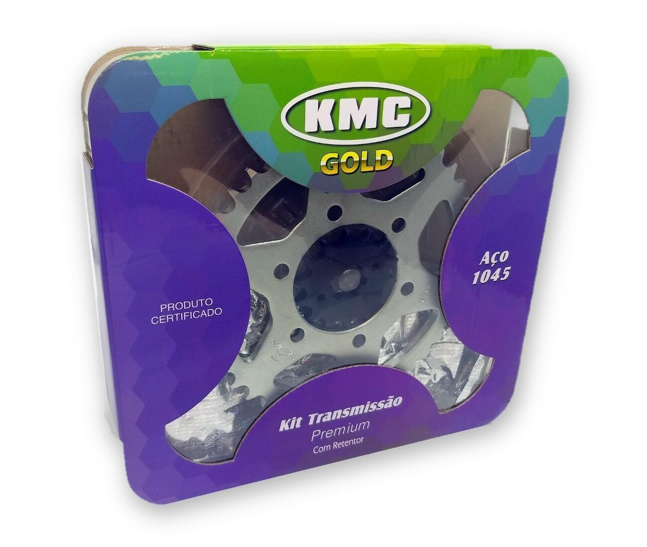 Kit Relação Crosser 150 Com Retentor Aço 1045 KMC GOLD 428x122x41x14