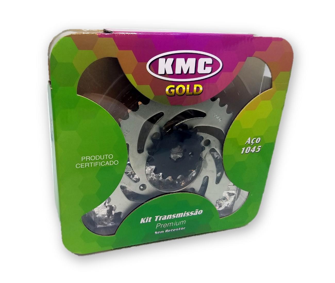 Kit Relação Crypton 115 2011 Aço 1045 KMC GOLD 420x108x41x15