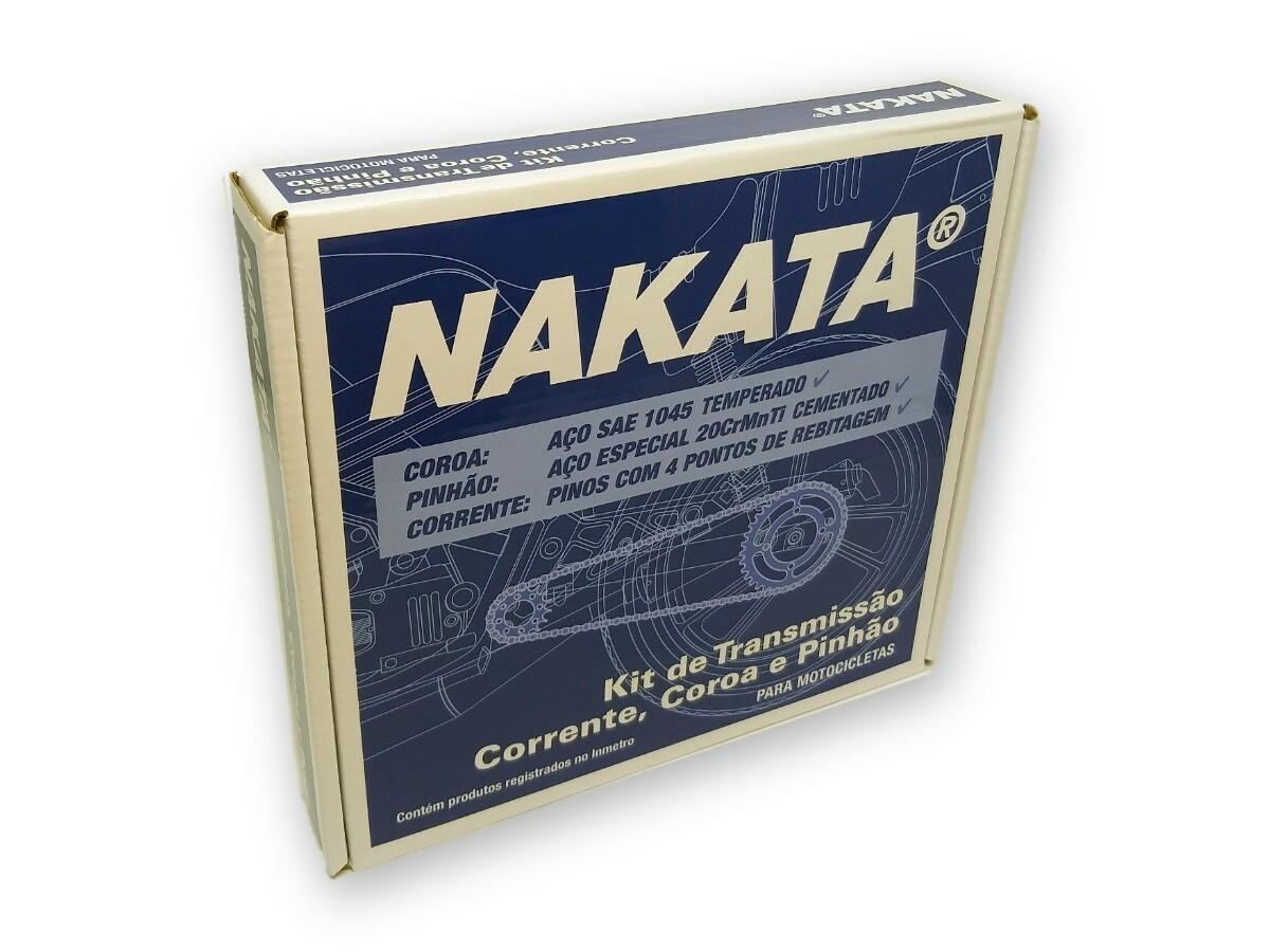 Kit Relação Fan 125 2009 a 2013 Aço 1045 Nakata 428x120x43x14