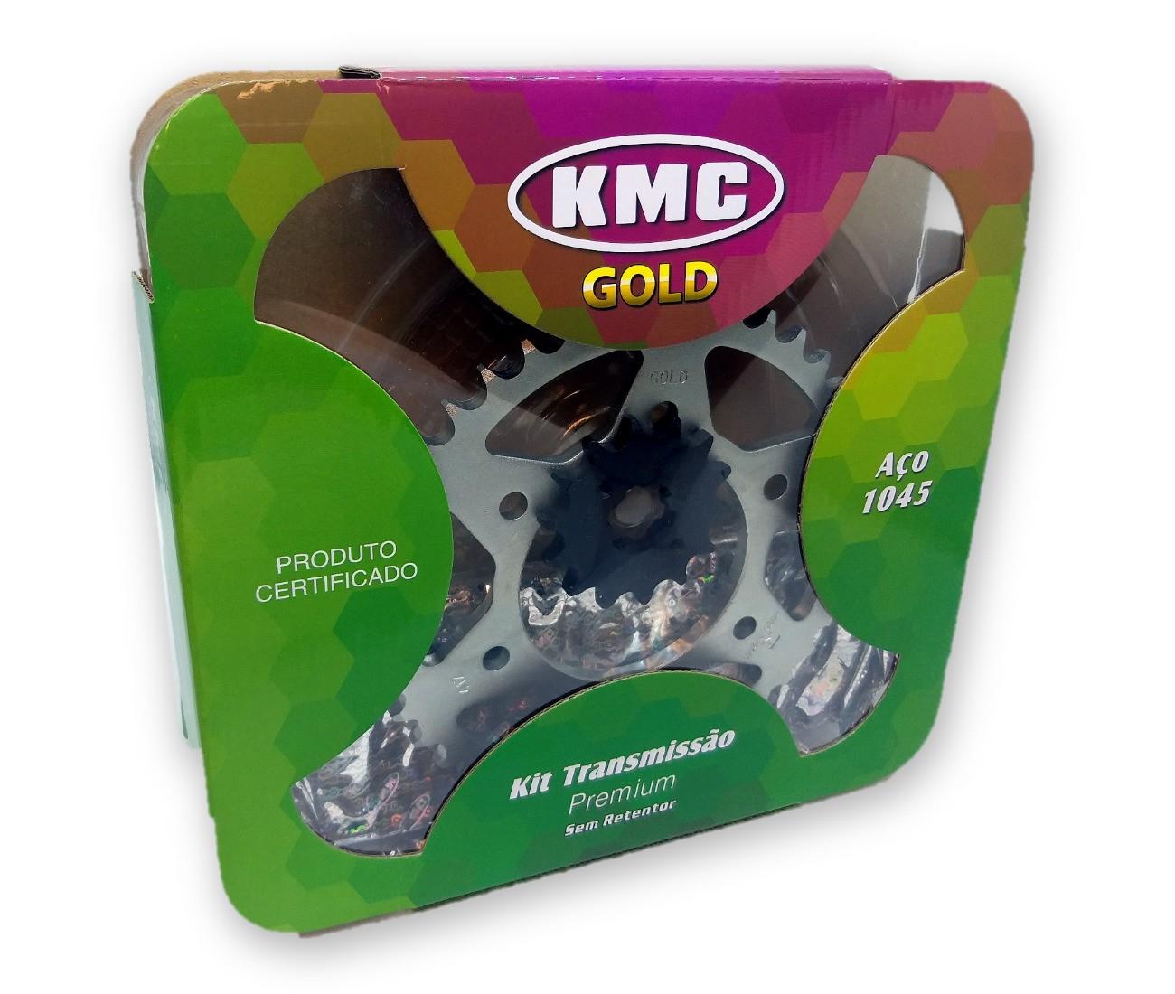 Kit Relação Fazer 150 2014 Aço 1045 KMC GOLD 428x126x41x14