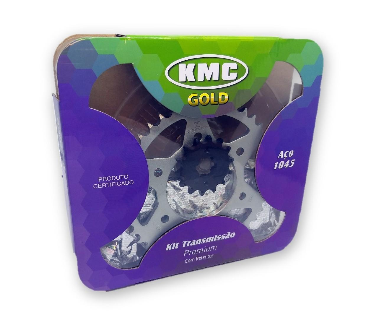 Kit Relação Fazer 150 2014 Com Retentor Aço 1045 KMC GOLD 428x126x41x14