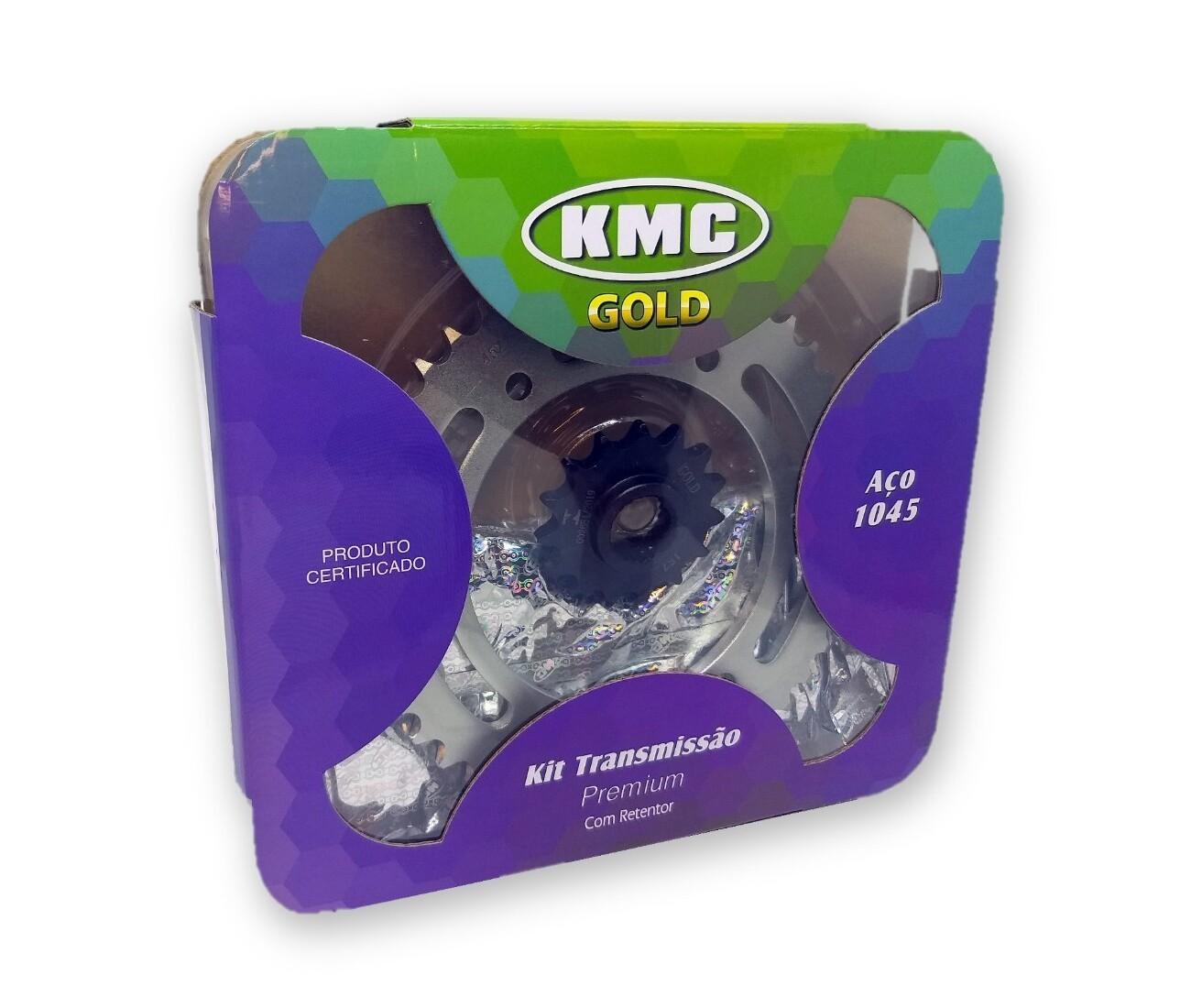 Kit Relação Fazer 250 2006 a 2018 Com Retentor Aço 1045 KMC GOLD 428x132x45x15
