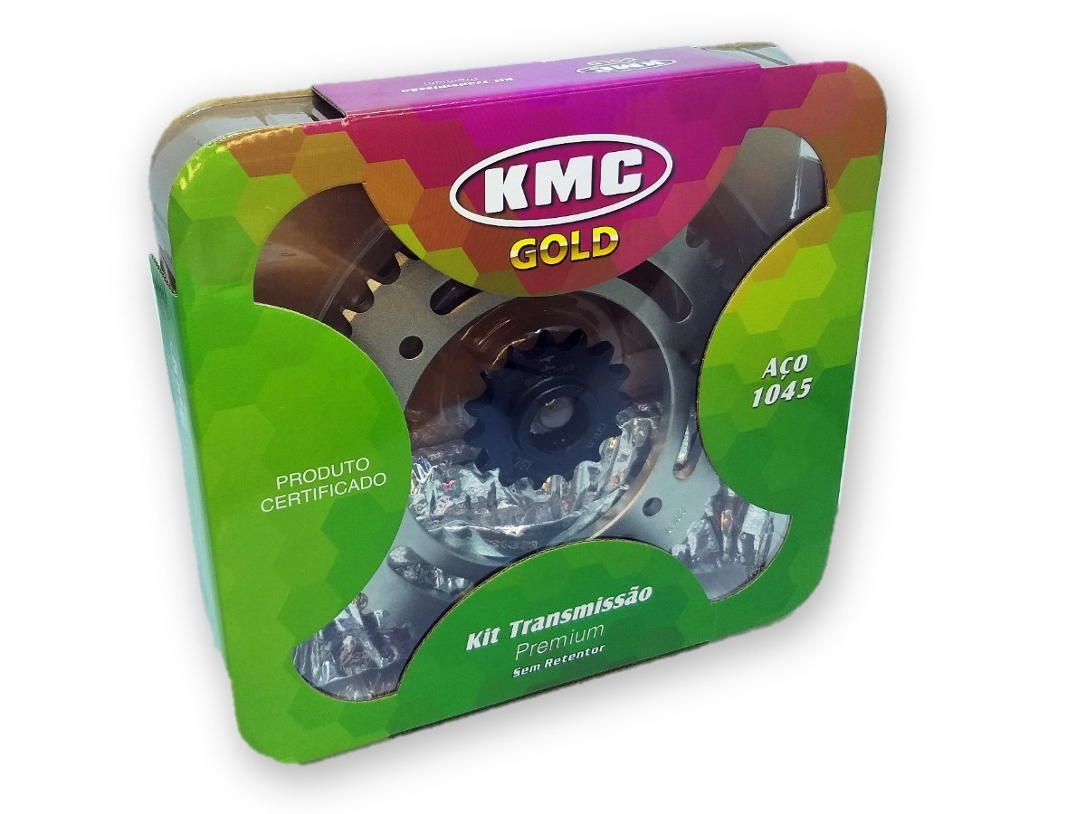 Kit Relação Fazer 250 2006 Até 2018 KMC GOLD 428x132x45x15