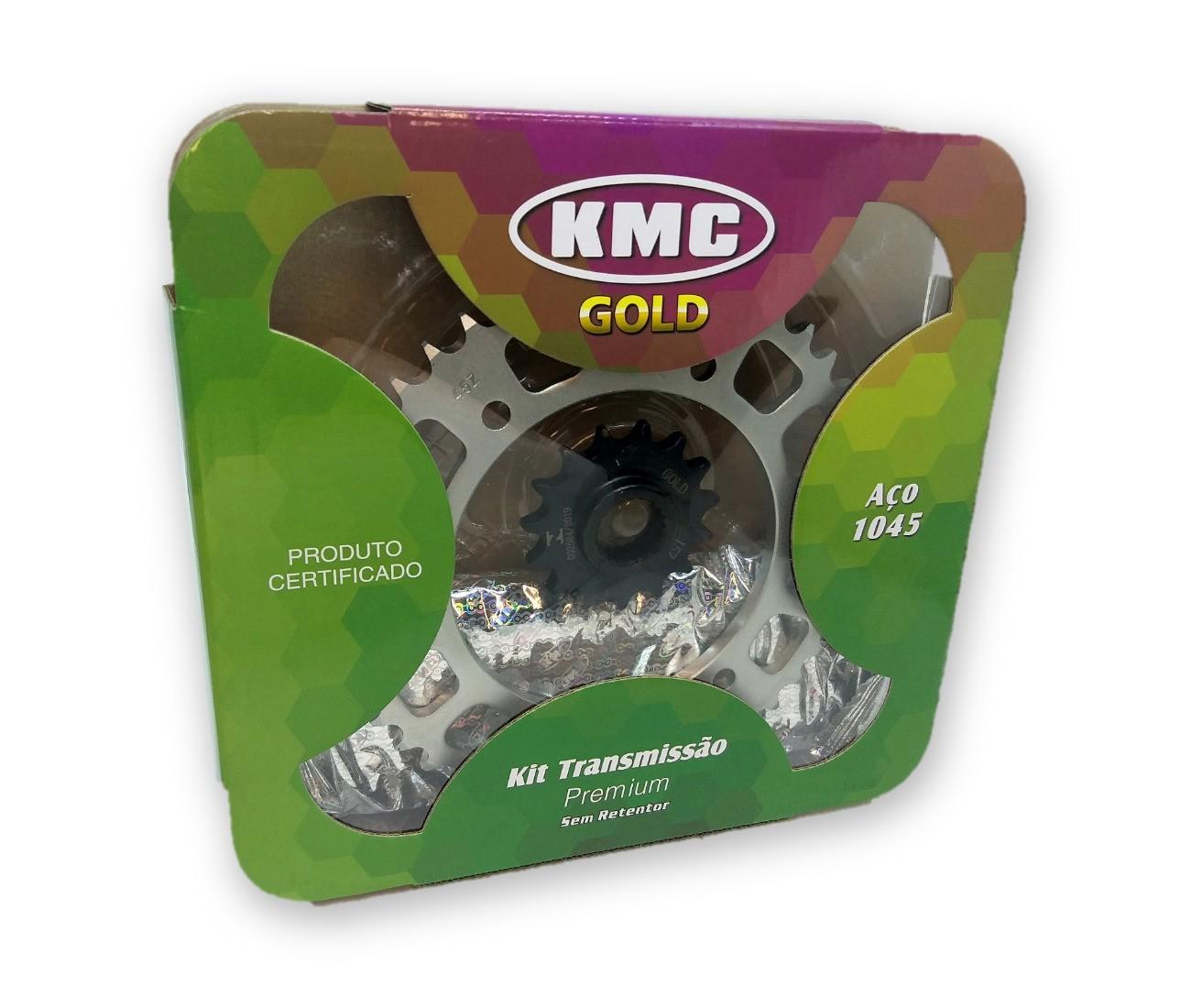 Kit Relação Fazer 250 2014 Aço 1045 KMC GOLD 428x132x45x15