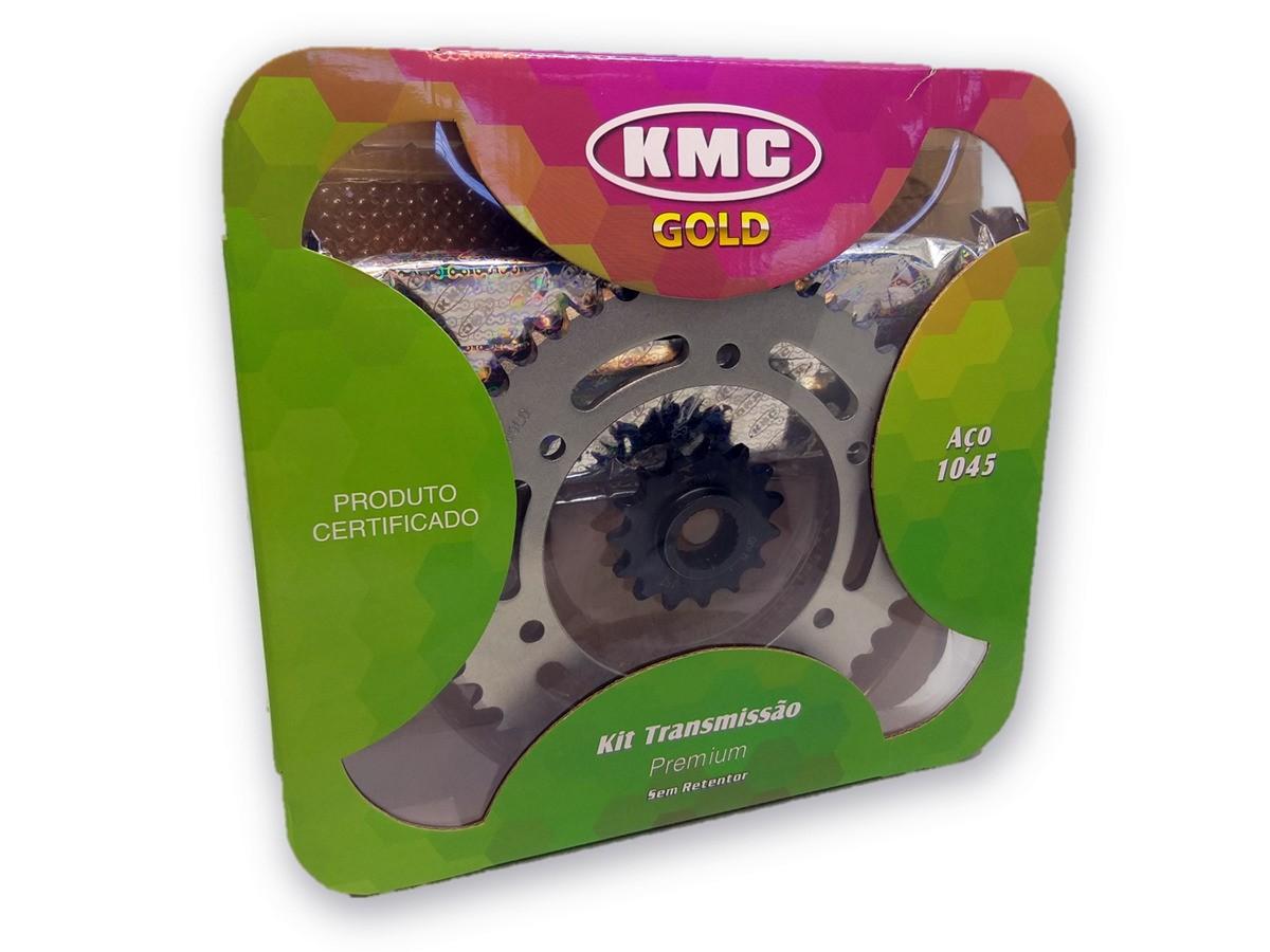 Kit Relação Fazer 250 2018 Aço 1045 KMC GOLD 428x136x46x15