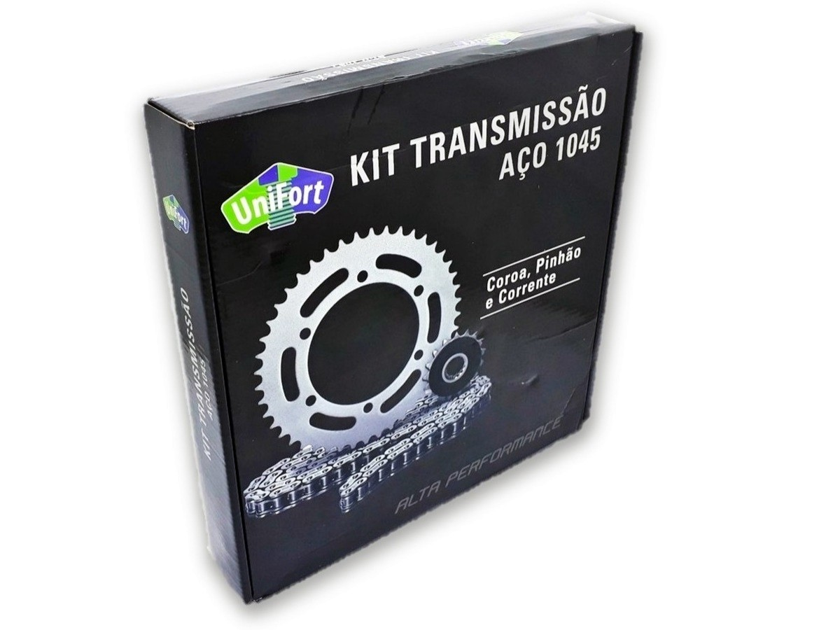 Kit Relação Fazer 250 2018 Aço 1045 Unifort 428x136x46x15