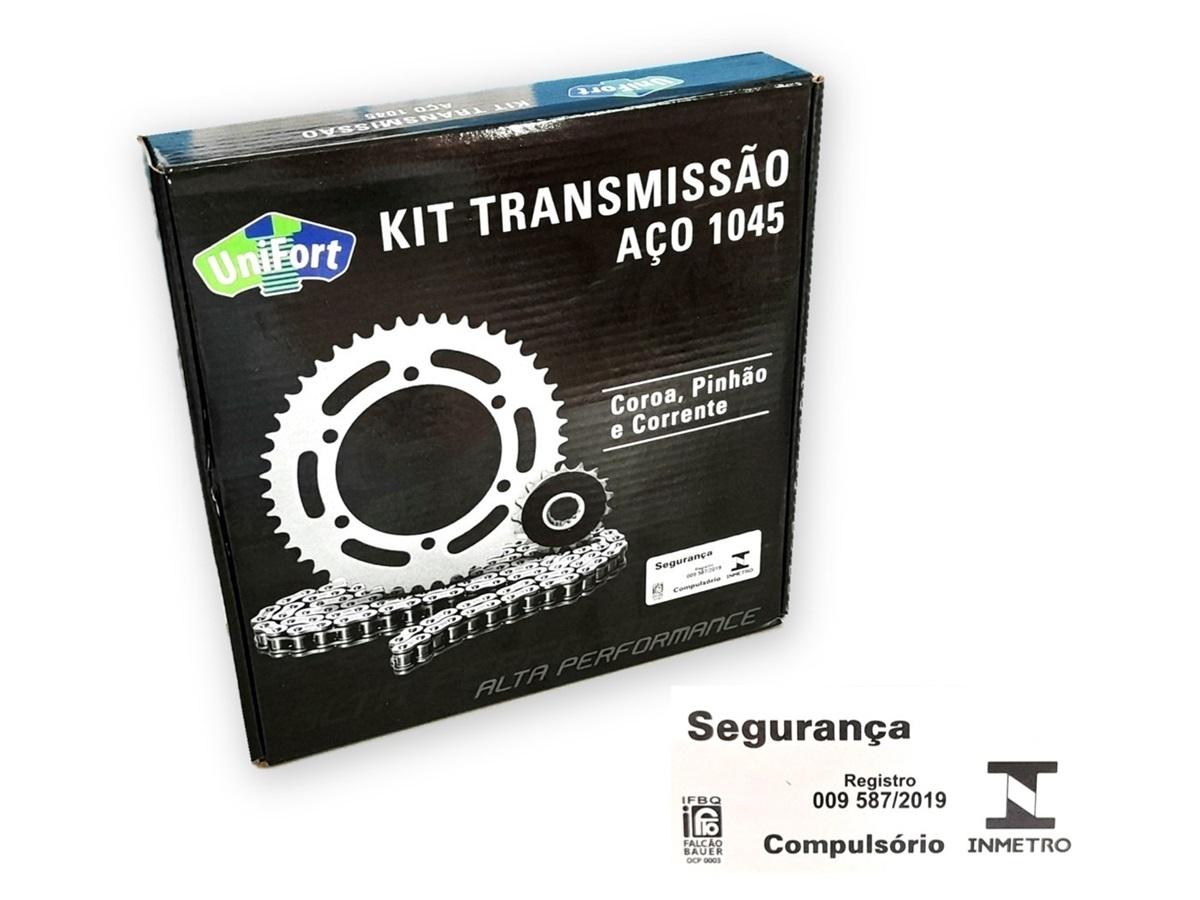 Kit Relação Lander 250 2009 Em Diante Aço 1045 Unifort 520x106x40x13