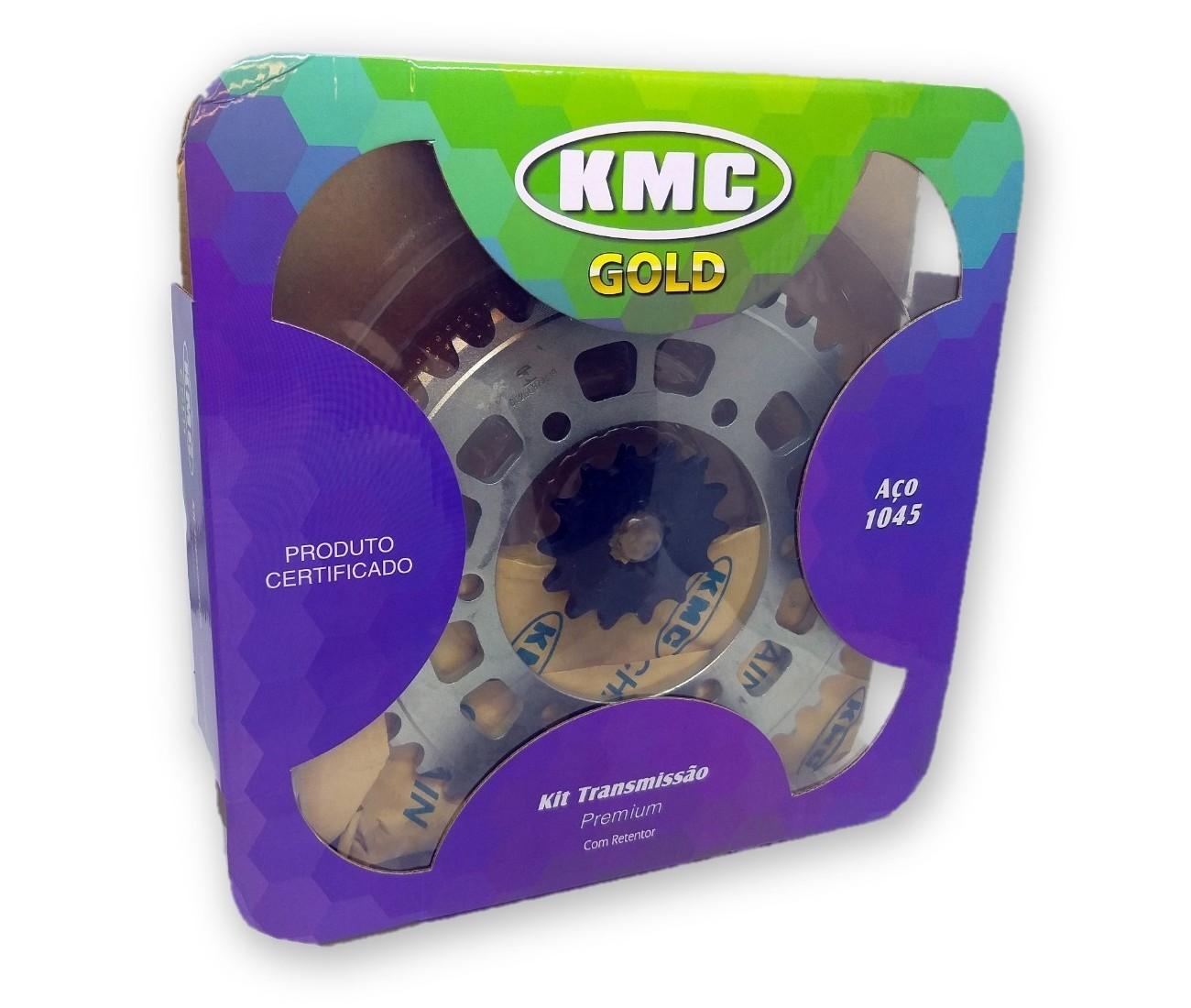 Kit Relação MT-03 / R3 Com Retentor Aço 1045 KMC GOLD 520x112x43x14