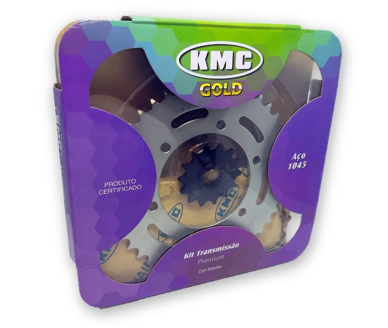 Kit Relação Ninja 250-300 Com Retentor Aço 1045 KMC GOLD 520x106x43x17