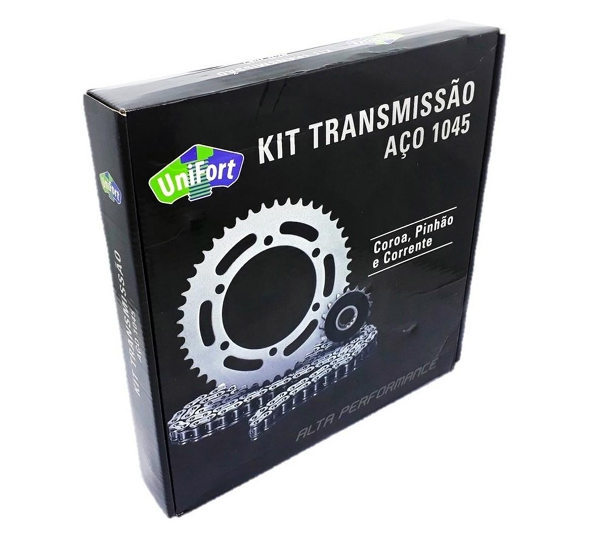 Kit Relação Pop 110 Aço 1045 Unifort 428x104x34x14