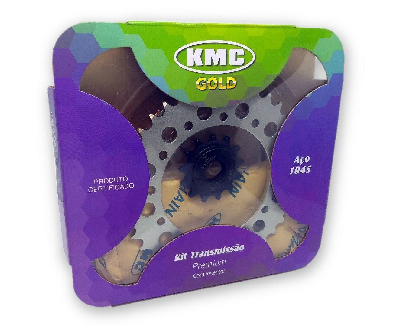 Kit Relação Tenere XTZ 250 Com Retentor Aço 1045 KMC GOLD 520x106x39x13