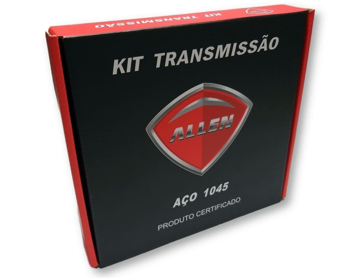 Kit Relação Titan 125 2000 Até 2004 / Fan 125 2005 Até 2008 Aço 1045 Allen 428x116x44x14
