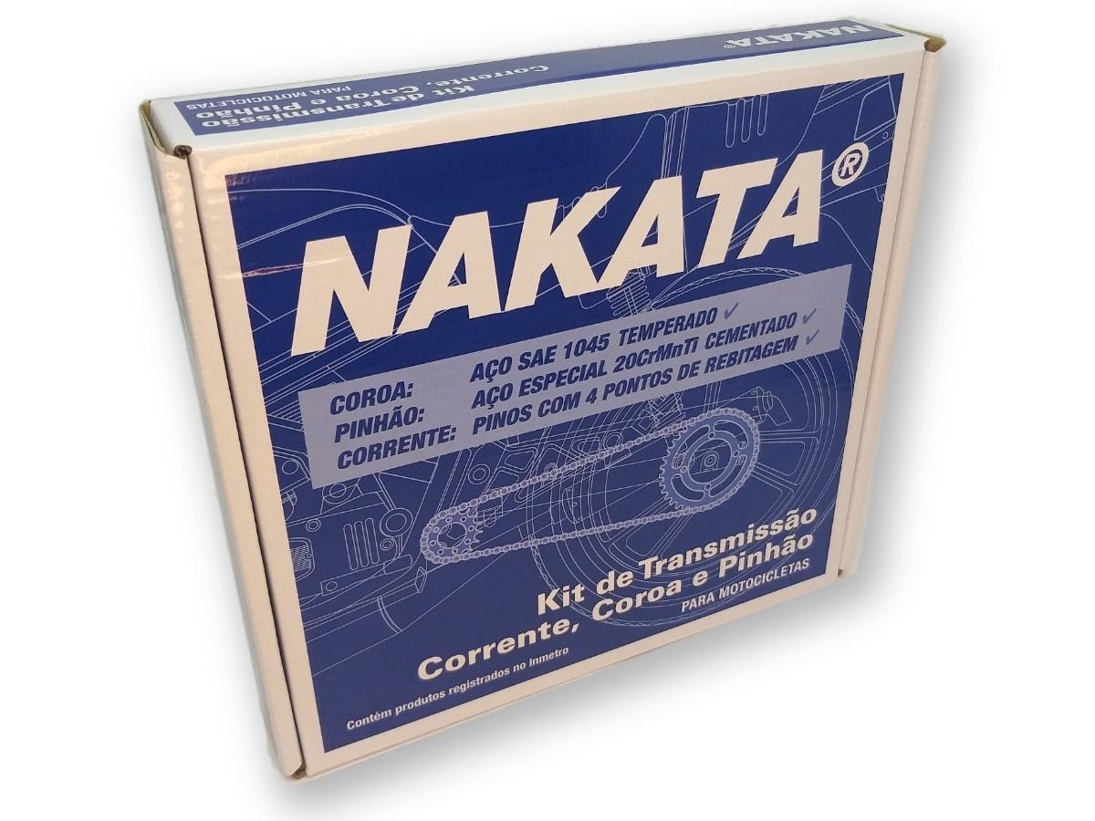 Kit Relação Titan 150 / Fan 150 Aço 1045 Nakata 428x118x43x16