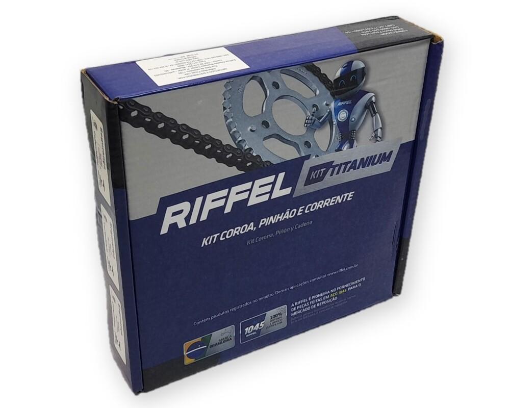 Kit Relação Titan 150 / Fan 150 Aço 1045 Riffel 428x118x43x16