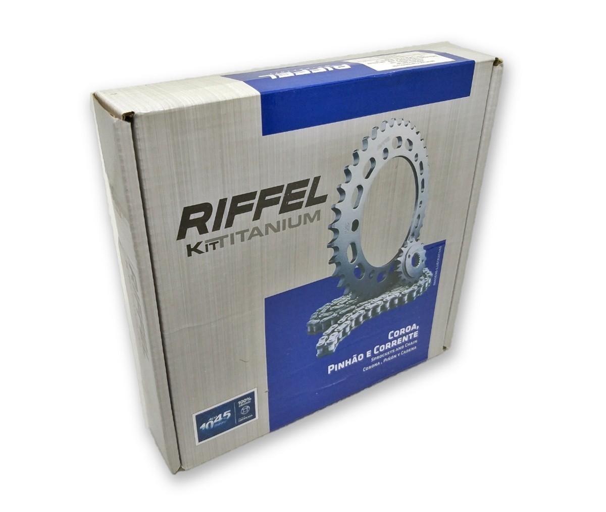 Kit Relação Titan 150 / Fan 150 Titanium Aço 1045 Riffel 428x118x43x16