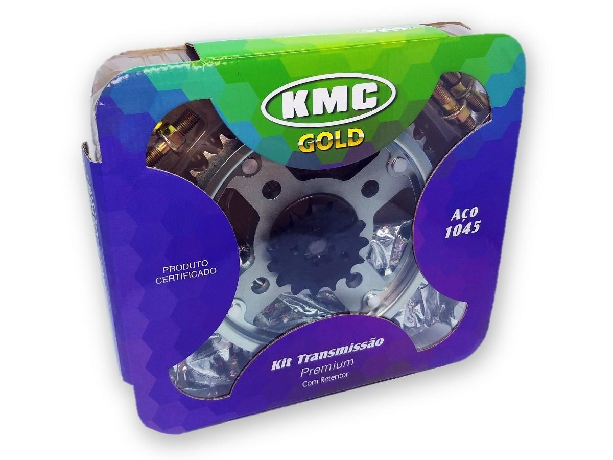 Kit Relação Titan 160 2016 Com Retentor KMC GOLD 428x118x44x15