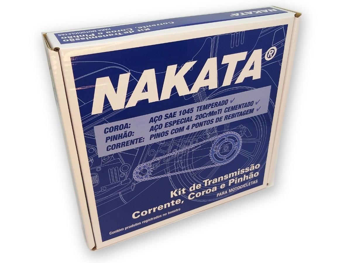 Kit Relação Titan 160 / Fan 160 Aço 1045 Nakata 428x118x44x15
