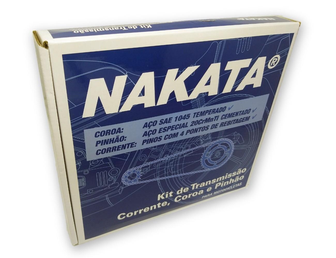 Kit Relação Twister 250 2001 a 2008 Aço 1045 Nakata 520x106x37x13