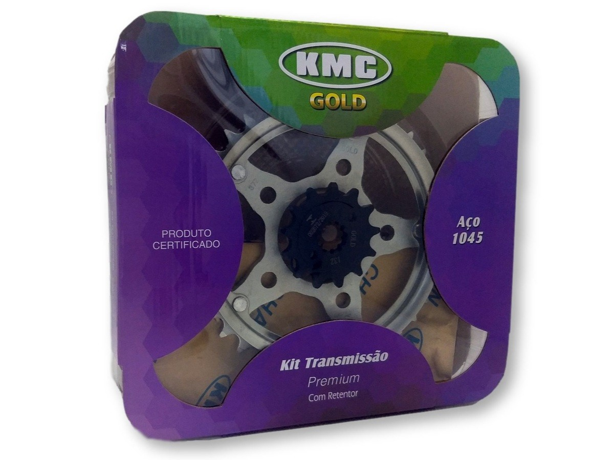 Kit Relação Twister 250 2002 a 2008 Com Retentor Aço 1045 KMC GOLD 520x116x37x13