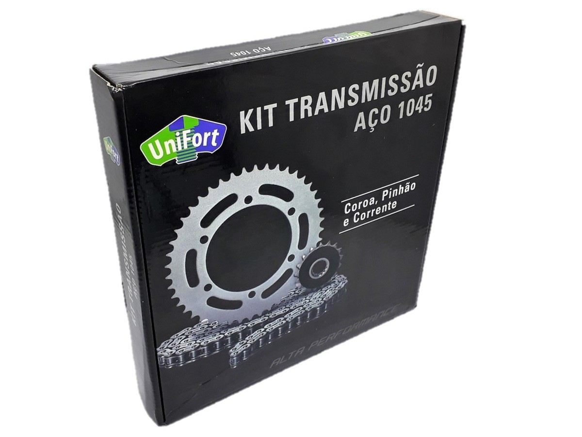 Kit Relação Twister 250 2000 a 2008 Aço 1045 Unifort 520x106x37x13