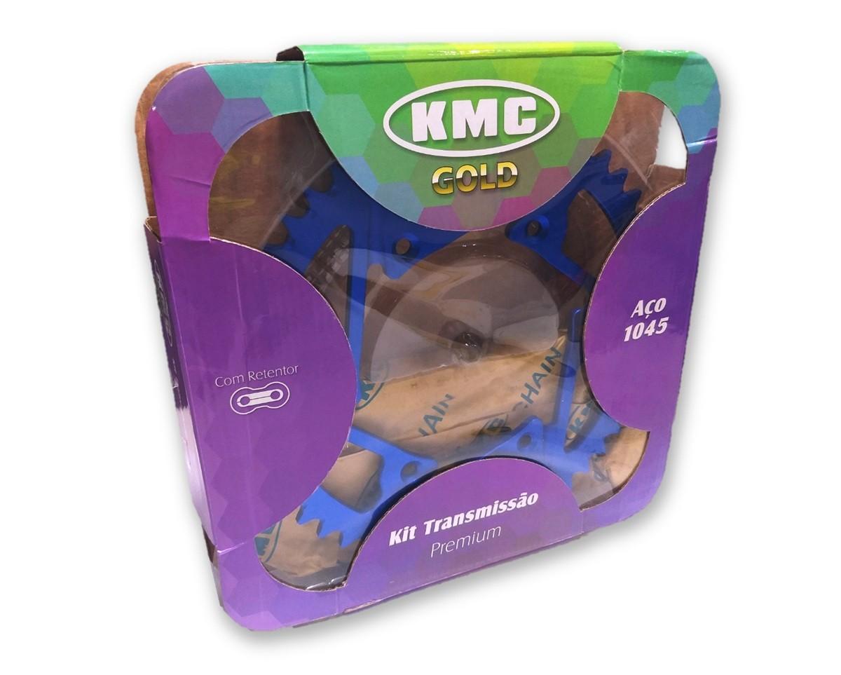 Kit Relação WR 250 Com Retentor Azul Aço 1045 KMC GOLD 520x116x50x13