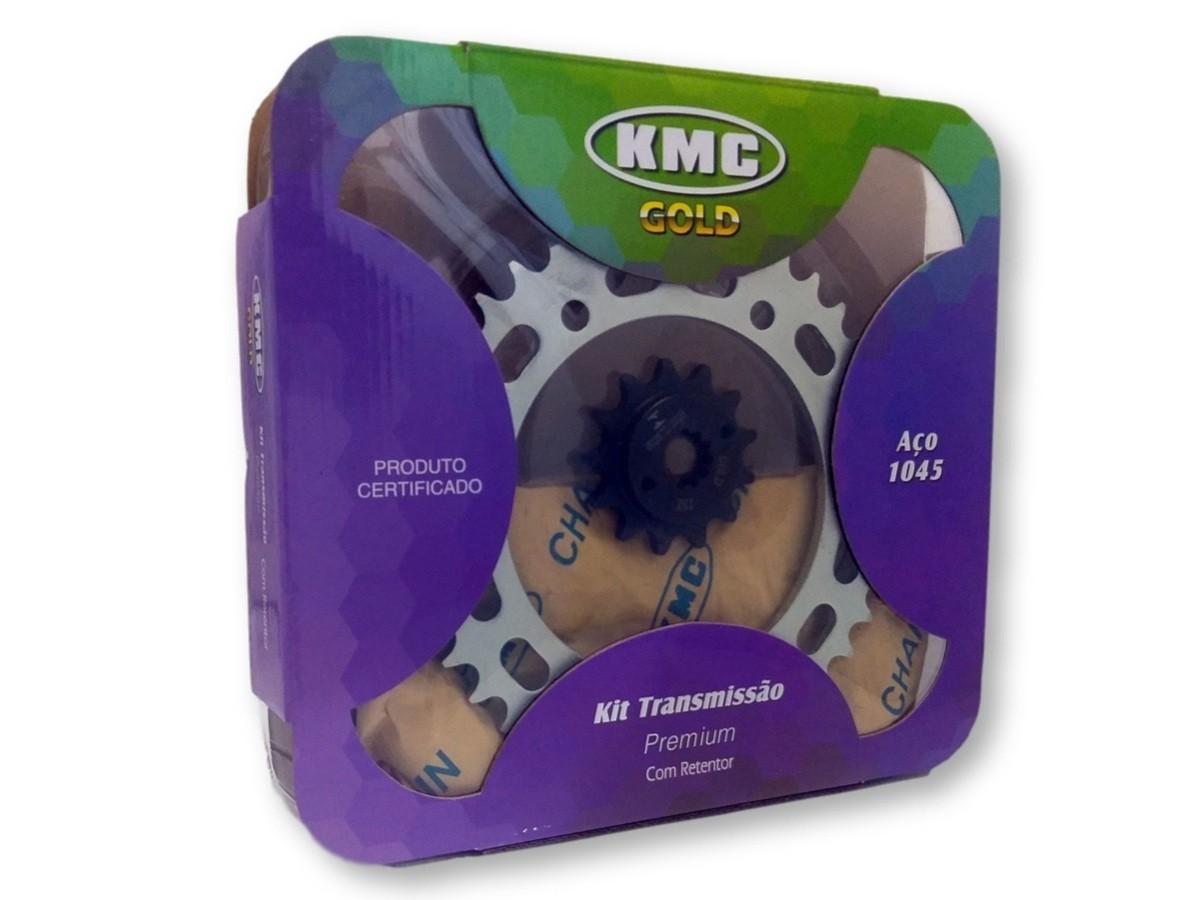 Kit Relação XRE 300 Com Retentor Aço 1045  KMC GOLD 520x104x39x13