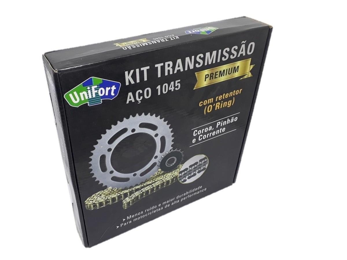 Kit Relação XT 660 Com Retentor Dourada Aço 1045 Unifort 520x110x45x16