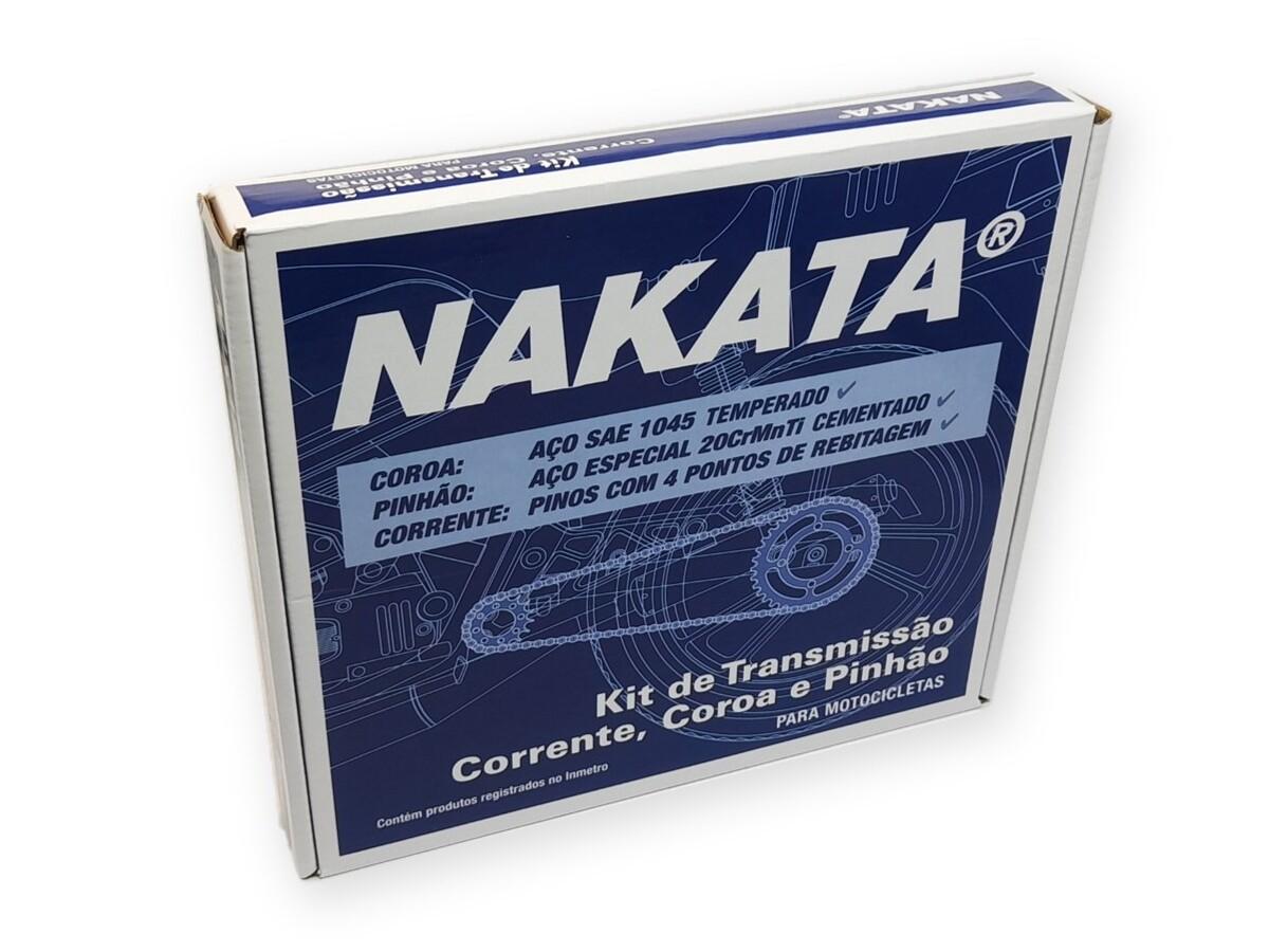 Kit Relação XTZ 125 2002 a 2012 Aço 1045 Nakata 428x122x48x14