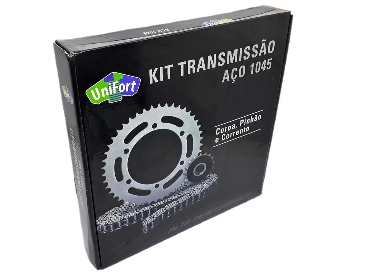 Kit Relação XTZ 125 Aço 1045 Unifort 428x122x48x14