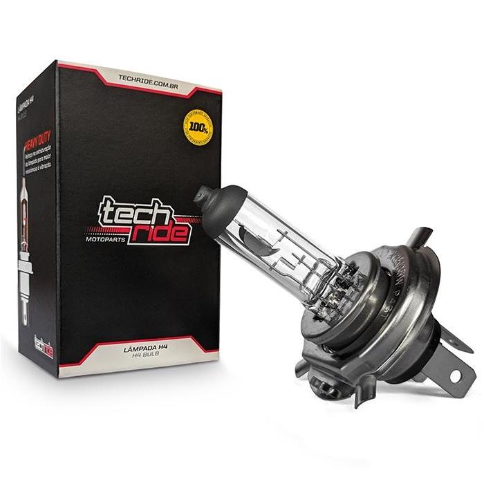 Lâmpada Farol Moto H4 12V 35/35W Titan 99 / Titan 2000 / Titan 150 / Twister 250 Reforçada Tech Ride