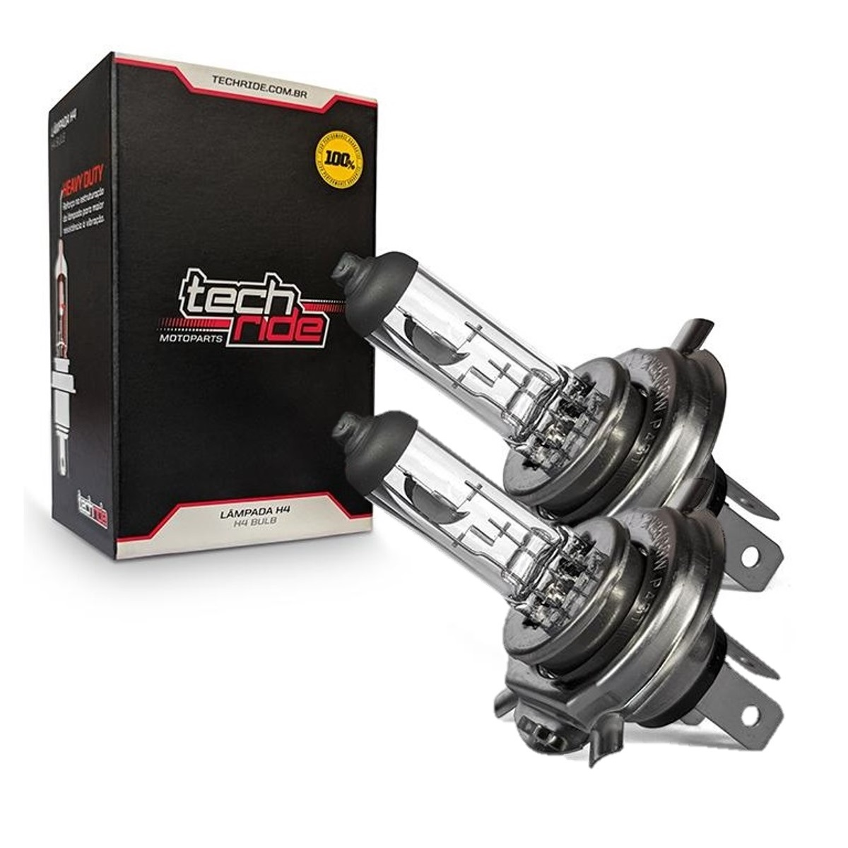 Lâmpada Farol H4 12V 60/55W Falcon NX400 / CB Twister 250F 2016 / Next 250 / CB500 Reforçada Tech Ride 2un