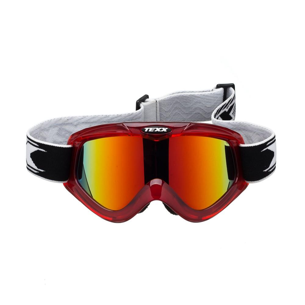 Óculos Cross Texx FX-4 Vermelho Transparente Lente Iridium