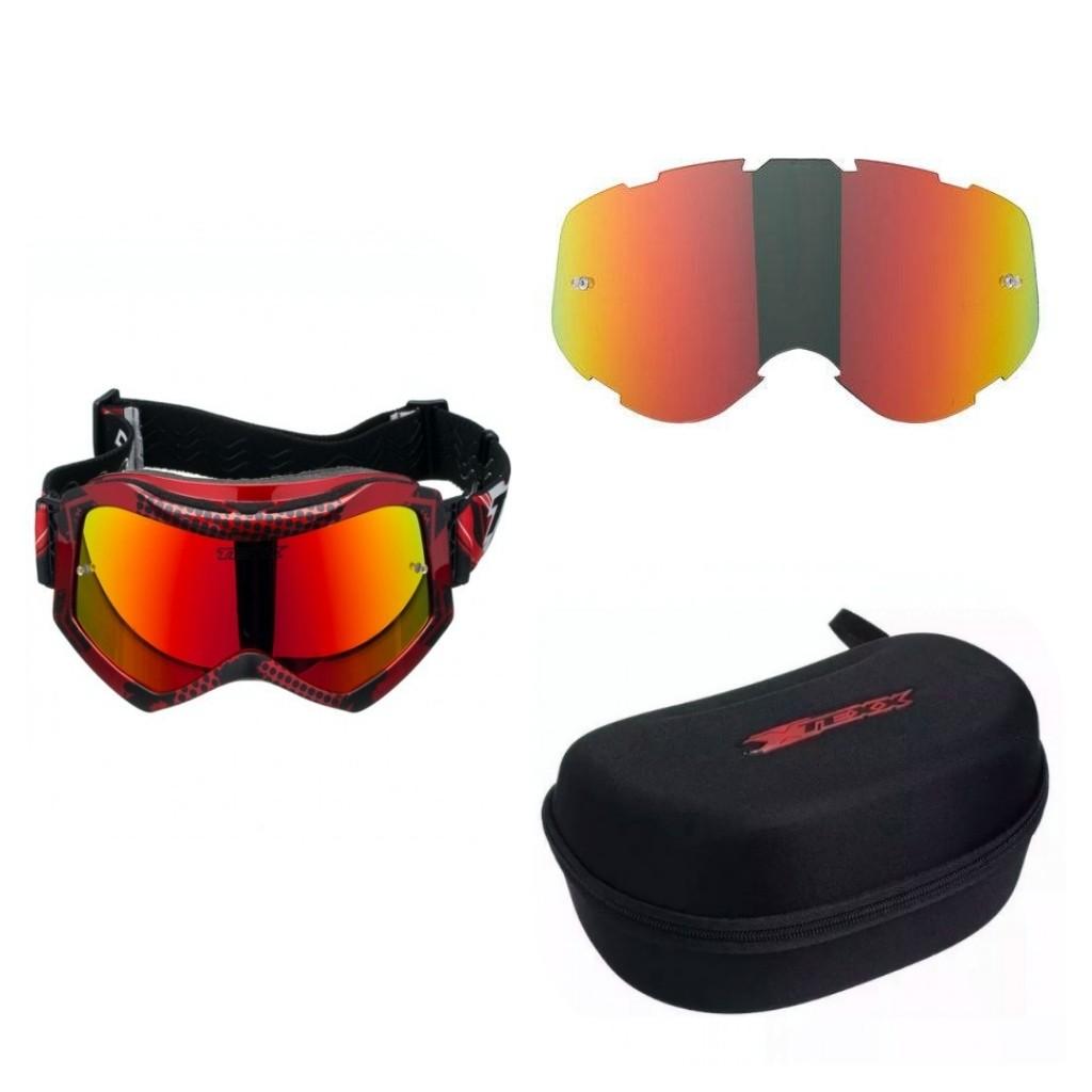 Óculos Cross Texx Raide Pro 2 Óculos+Case+Lente Extra (KIT)
