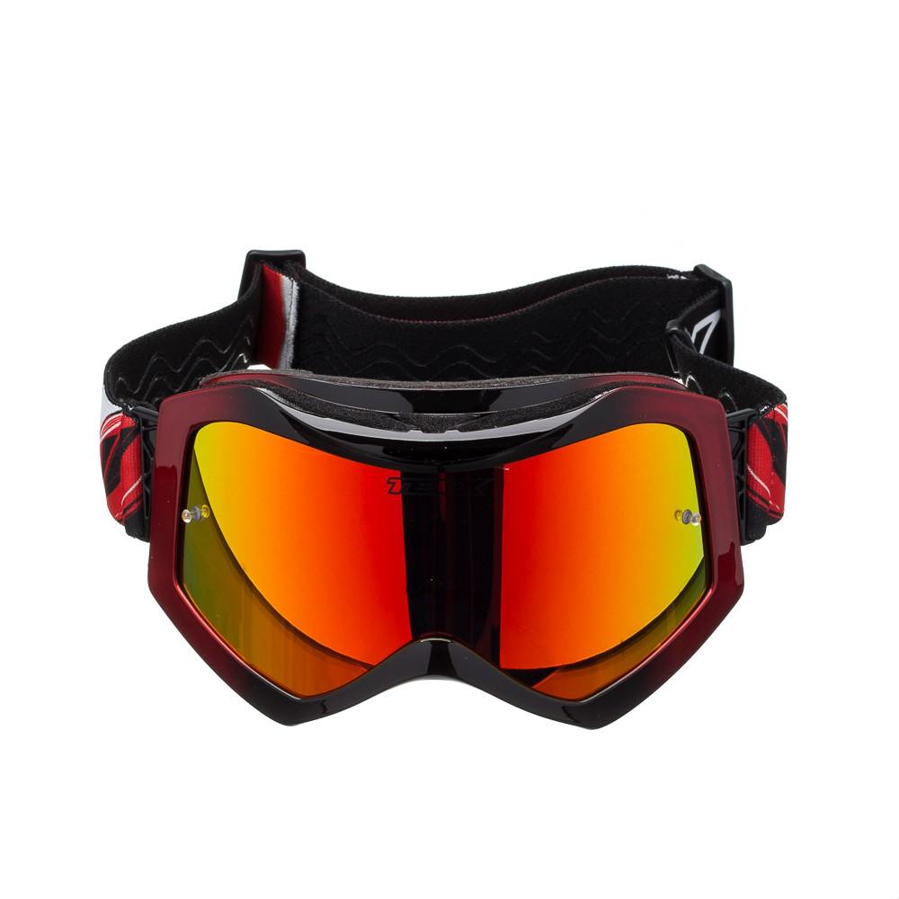 Óculos Cross Texx Raider Pro Vermelho/Preto Metálico Lente Iridium