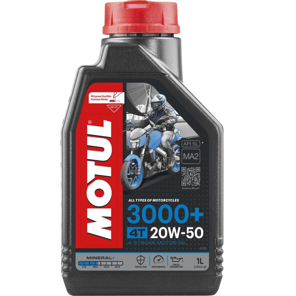Óleo Motul 20W-50 4T 3000+ Mineral 1 Litro