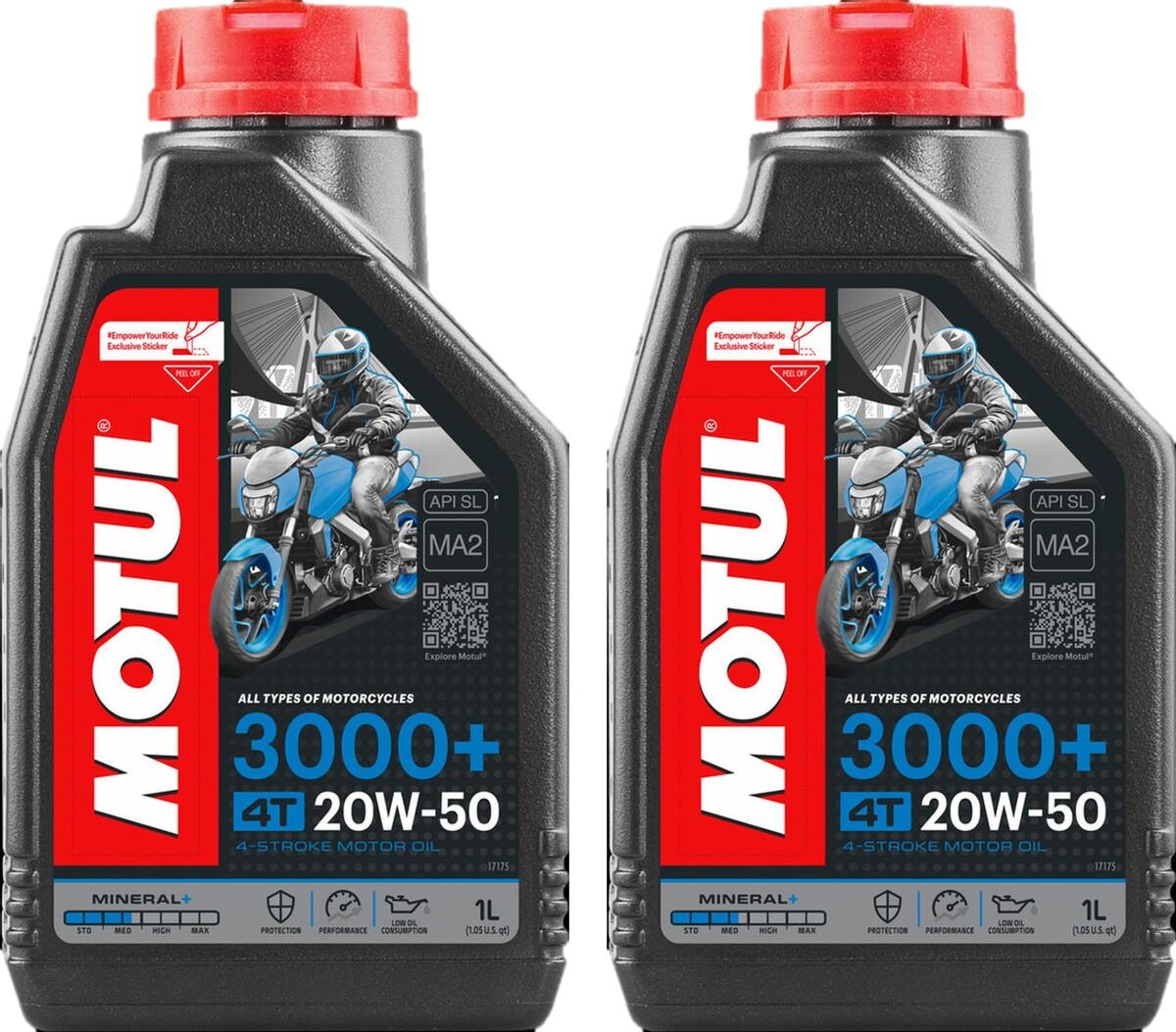 Óleo Motul 20W-50 4T 3000+ Mineral 2 Litros
