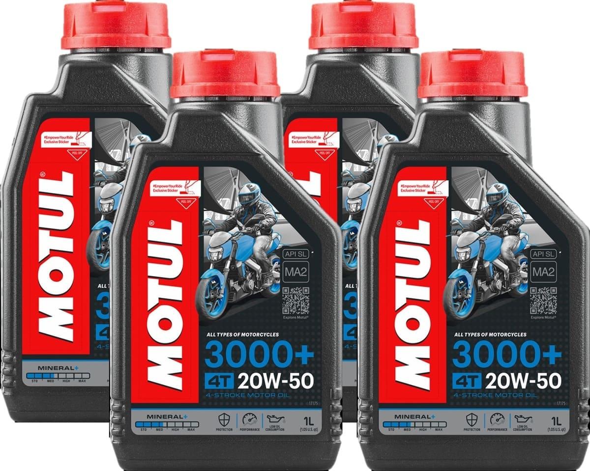 Óleo Motul 20W-50 4T 3000+ Mineral 4 Litros