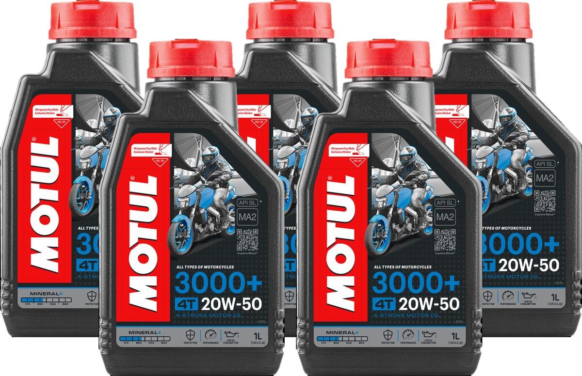 Óleo Motul 20W-50 4T 3000+ Mineral 5 Litros