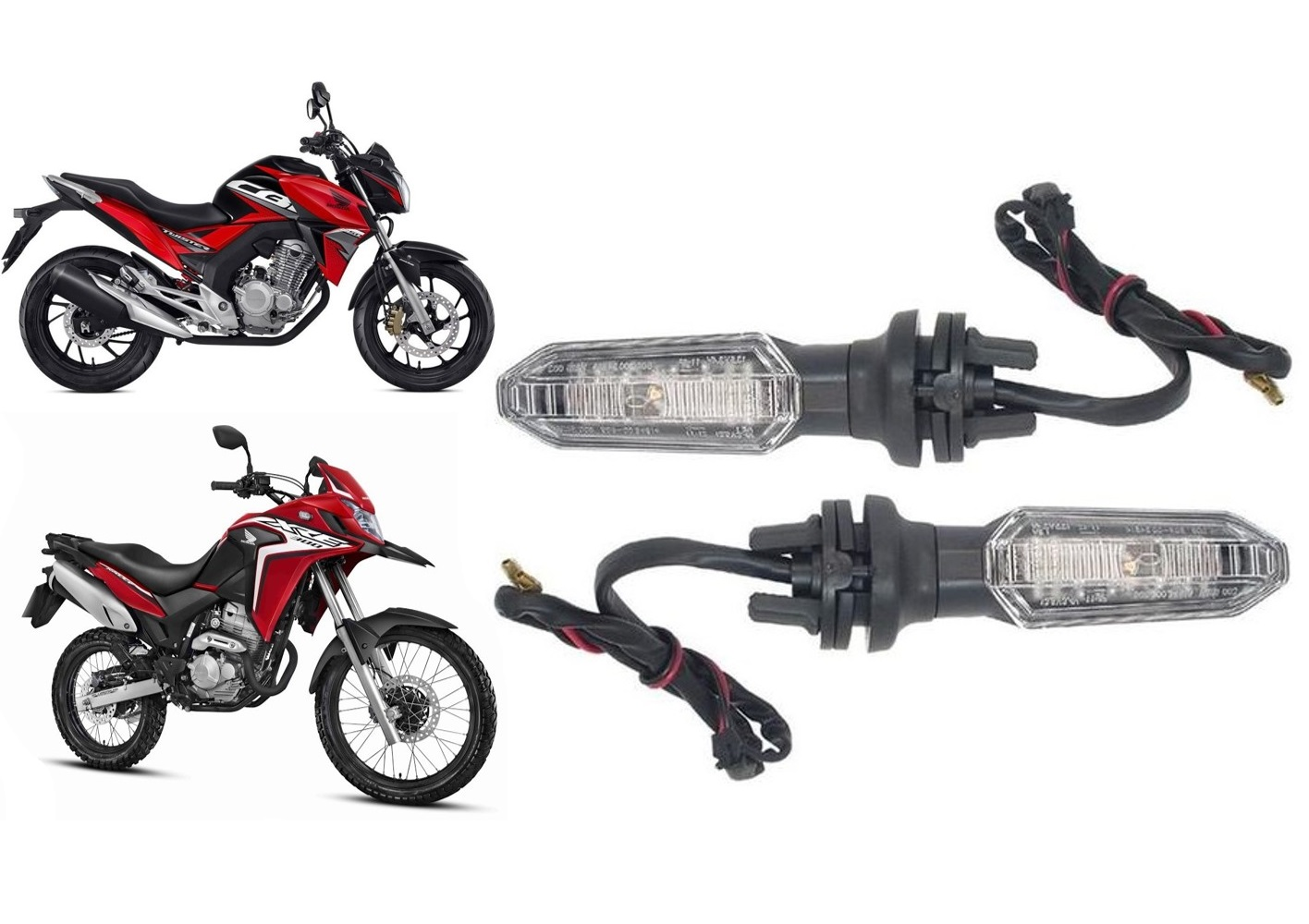 Piscas Led CB Twister 250F / XRE 300 2019 All-Tech