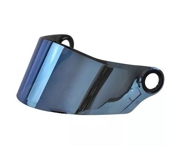 Viseira Azul Iridium Capacete Helt Strada / LS2 FF358-FF396 Anti Risco 2.2mm Polivisor