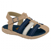Sandália Infantil Bege/Azul  Molekinho 2135.121