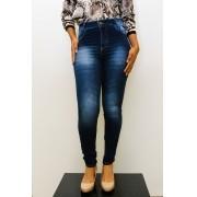Calça jeans cintura alta com puido DIV