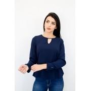 CAMISA FEMININA BÁSICA AISHTY  Marinho