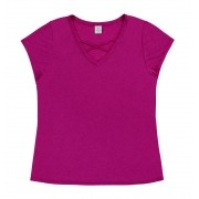 CAMISETA PLUS SIZE ROSA