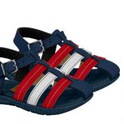 Sandália Infantil Azul/ Vermelho  Molekinho 2135.121