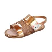Sandália infantil dourada Molekinha