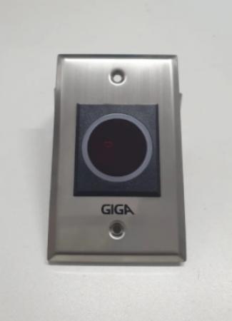 BOTOEIRA ESPELHO SEM TOQUE DE EMBUTIR INOX 4X2 NA/CO GIGA- GS0353
