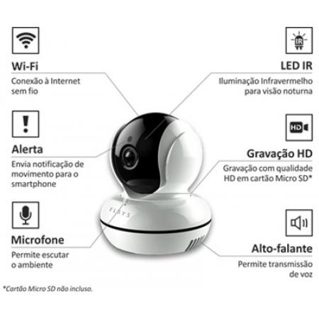 CAMERA DE SEGURANCA WIFI HD ELSYS C/INFRA ESC-WR2 - INTERNO