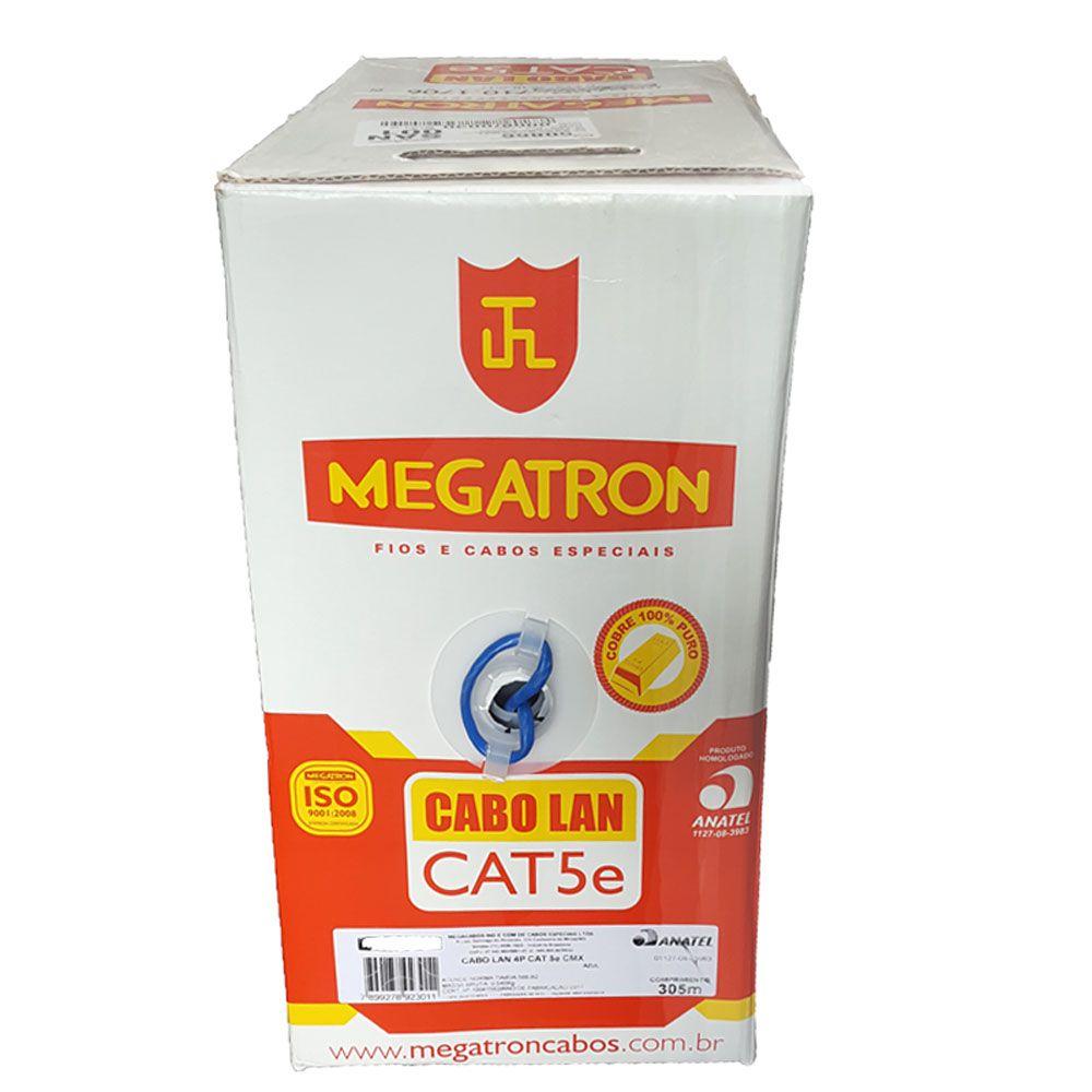 CABO REDE UTP AZUL 305M - CAT5E MEGATRON